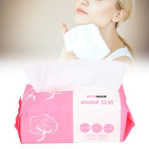 ZJchao 100 toallitas secas de algodón Desechables, cosmética Suave para Limpieza Facial, Toallas de Papel, Maquillaje, Almohadillas de algodón, toallitas faciales para centros
