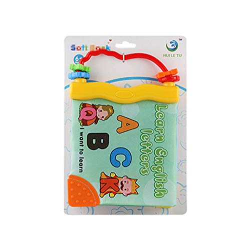 Jinjin Baby Cloth Books Sound Soft Cloth Baby Intelligence Development Learn Picture Cognize Book Vocal Fun Tearing Bad Teeth Early Education Book (A)