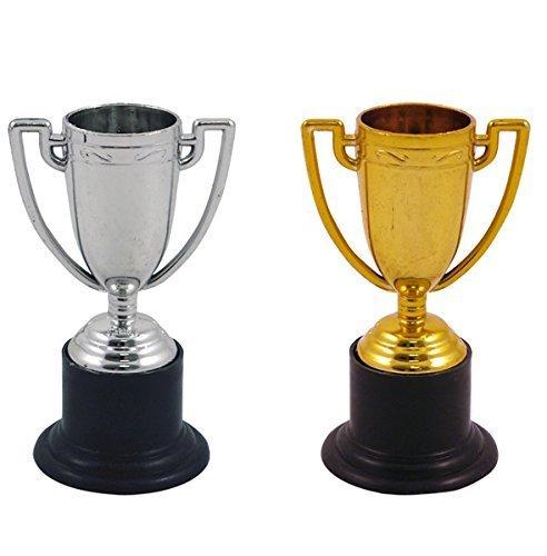 Mini Trofeos de Oro y Plata 12pk