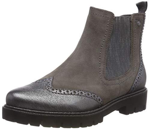 Be Natural Damen 25400-21 Chelsea Boots, Grau (Stone 231), 40 EU