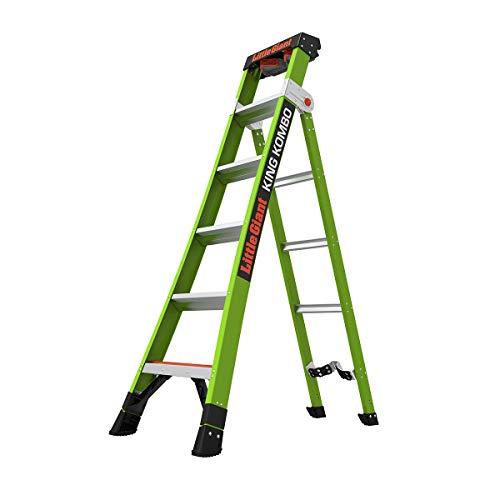 Little Giant Ladder Systems 13610-071 King Kombo 3-in-1 Ladder, 6 Ft, Gray