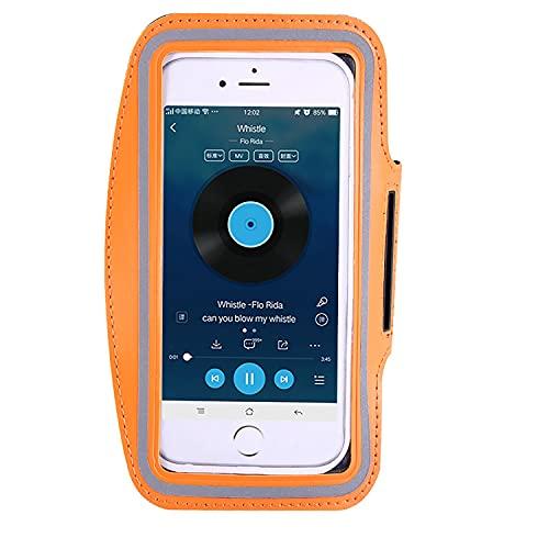 TTYL Titular del Brazalete De Teléfono para El Gimnasio Y El Jogging Al Aire Libre. Compatible con Los Tamaños De La Pantalla del Teléfono hasta 6.0 Incluyendo iPhones, Samsungs, Huawei Orange-M