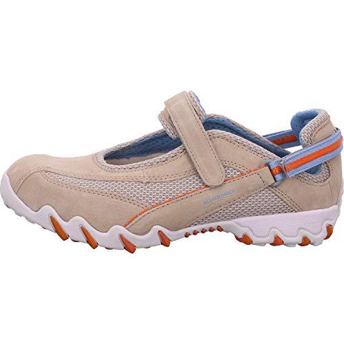 Allrounder by Mephisto NIRO Chaussures de ballerine confortables pour femme en cuir et textile (mesh) - Beige - beige, 38.5 EU
