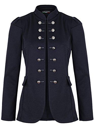 Damen Blazer Militäry Style (513) (44 / XXL, Dunkelblau)