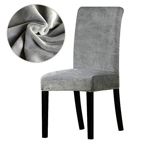 PPOOLLK stof super zachte dikke stoelhoezen stretch eetkamer bank Universal size grijs