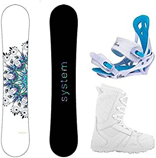 System 2020 Flite Snowboard w/Mystic Bindings and Lux Boots Women's Complete Snowboard Package