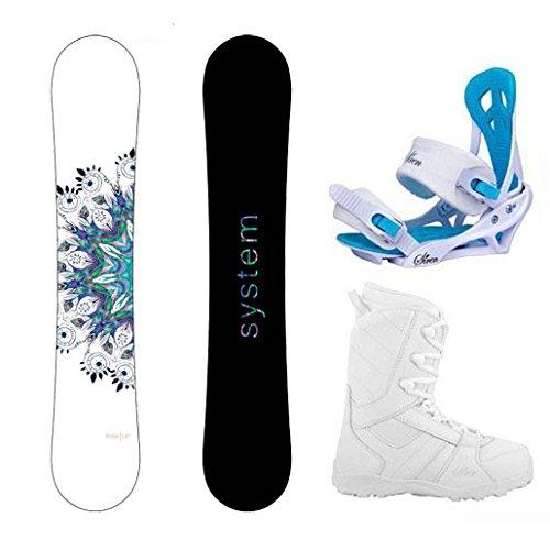 System Package Flite Women's Snowboard-143 cm-Siren Mystic Bindings-Siren Lux Women's Snowboard Boots-8