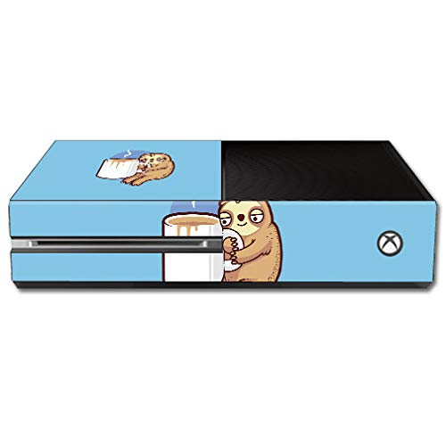 MightySkins Skin Compatible with Microsoft Xbox One - Good Morning Sloth | Protective, Durable, and Unique Vinyl Decal wrap Cover | Easy to Apply, Remove, and Change Styles | Made in The USA
