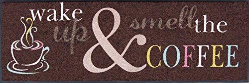 Très grande Chemin de cuisine de tapis Chemin de taille env. 60 x 180 cm/tapis de cuisine/Décoration pour la cuisine et Bar/Tapis de couloir cuisine/lavable Tapis de cuisine/Cuisine Tapis décoratif modèle Wake Up & Smell The Coffee – Café/couloir/couloir Tapis/fabriqué en Europe, lavable en machine à 40 °C, Passe au sèche-linge C certifié Öko-Tex Standard 100, fußbodenheizungsgeeignet