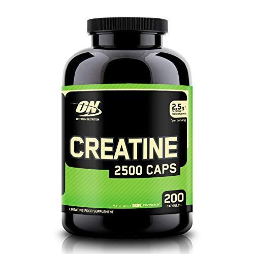 Optimum Nutrition ON Creatine 2500mg, Creatina en Cápsulas, Suplementos Deportivos de Creatina Monohidrato para Musculacion, Sin Sabor, 100 Porciones, 200 Cápsulas