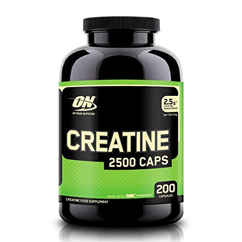 Optimum Nutrition ON Creatine 2500mg, Creatina en Cápsulas,...