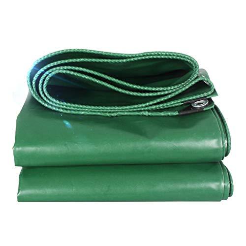 MZ LKW-Regen-Tuch, Markise-Tuch-Plane, Wasserdichtes Auto-Sonnenschutz-Sonnenschutz-Dreirad-Segeltuch (Farbe : Green, größe : 5mx6m)