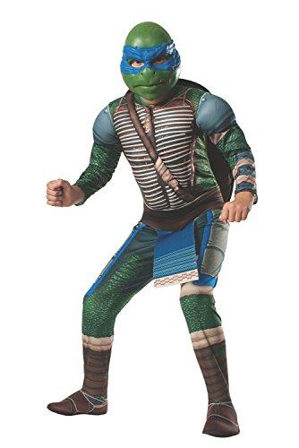 Rubies Disfraz de Leonardo Musculoso Tortugas Ninja Movie Para Niño - 3-4 Años