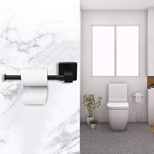 AISHIPING Wandsteun Toiletpapier houder Badkamer Tissue Houder Papier Roll Dispenser Zwart 5kg Lager Gewicht