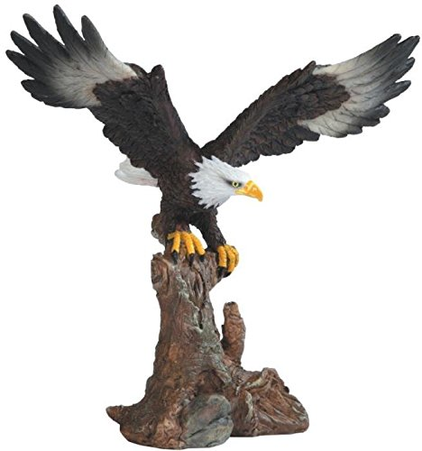 StealStreet Bald Eagle On Brown Branch Figurine, 6.75'