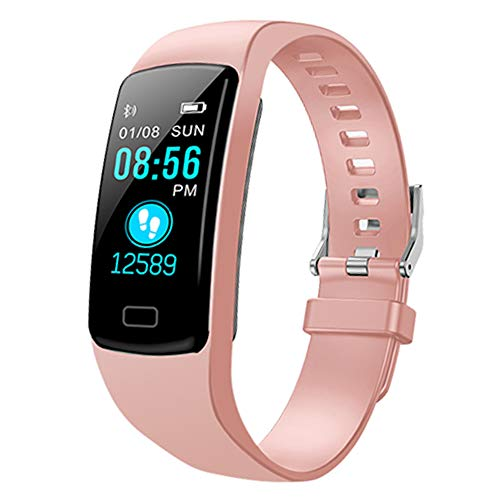 Fitness Tracker,Colorful Screen Activity Tracker with Heart Rate Monitor,Waterproof Pedometer Watch, Sleep Monitor, Stopwatch,Step Counter for Kids Women Men【2020 Version】 (Peach)