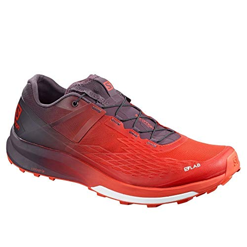 Salomon S/Lab Ultra 2 Trail Running Shoes Mens Sz 9 Racing Red/Maverick/White