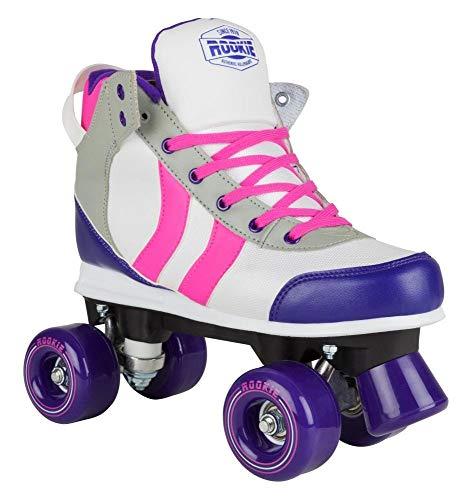 Rookie Deluxe Skates für Damen 35,5 weiß/rosa (Pink/Grau/Lila)