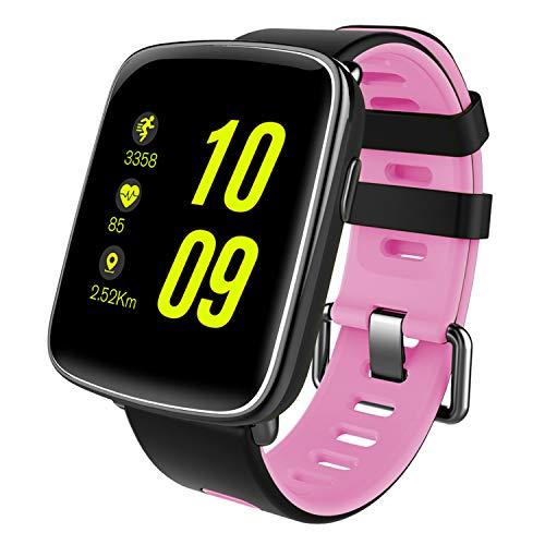スマートウォッチ、Yamay 1.54インチHD画面スマートブレスレット 心拍計 活動量計 多機能腕時計 Bluetooth...