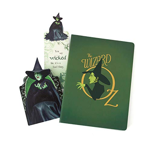 Paper House Productions SET-0049 Wizard of Oz Wicked Witch, On the Go Bundle, includes lined softcover journal, mini notebook and glitter bookmark
