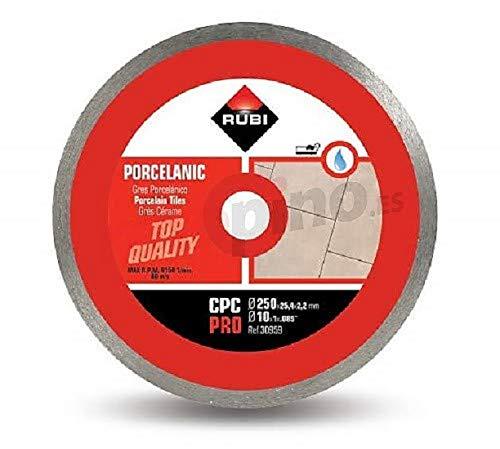 Rubi 30959 Disco Diamante gres porcelánico contínuo (CPC) 250 Pro, Gris, 250 mm