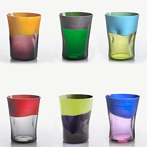 Nason Moretti Dandy Set 6 Bicchieri Acqua Vari Colori MOD.2
