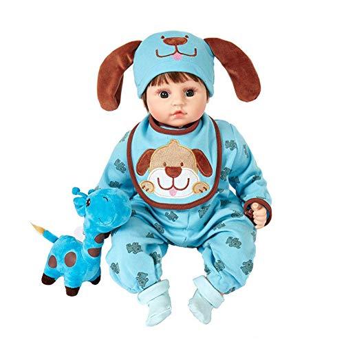 Talking Doll, 48 cm 18 pulgadas muñeca renacida bebé niña silicona realista niña muñeca niño niño juguete, blanco