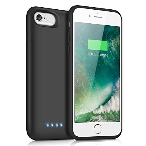 iPosible Cover Batteria per iPhone 6/6S/8/7, 6000mAh Cover Ricaricabile Custodia Batteria Cover Caricabatteria Battery Case per iPhone 6/6S/8/7 [4.7''] Cover Power Bank Backup Charger Case