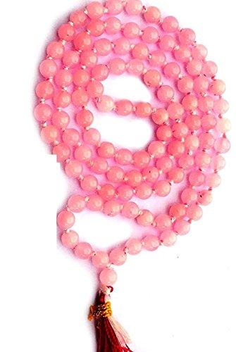 Divya shaktí cristal de cuarzo rosa Rosario Mala 108+ 1cuentas 7mm (curación Mala)