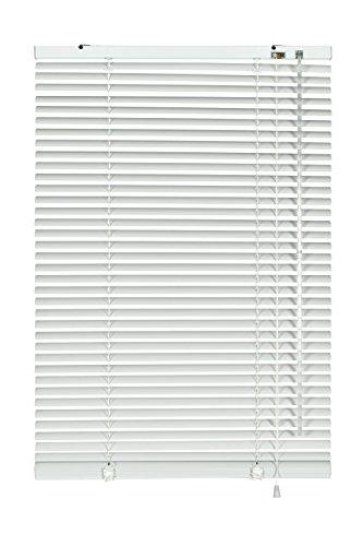 GARDINIA Alu-Jalousie, Sicht-, Licht- und Blendschutz, Wand- und Deckenmontage, Alle Montage-Teile inklusive, Aluminium-Jalousie, Weiß, 80 x 130 cm (BxH)