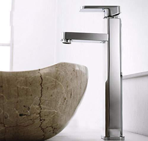 Great Deal! Modern Simple Brass Constructed Polished Hot And Cold Basin Sink Faucet Bathroom Sink Fa...