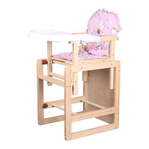 Eetkamerstoel voor baby's, eettafel, stoelen van massief hout, multifunctionele eettafel voor kinderstoelen (kleur: bruin, maat: Basic).