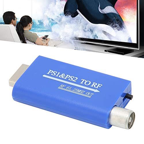 Gaeirt para el Adaptador de PS2 a RF, 1‑2M a 100‑1000M Conveniente para el convertidor PS1 / 2 La Alta frecuencia Reduce la pérdida para la Caja de Red para la Consola de Juegos para la Caja de TV