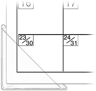 StoreSMART Calendar Corners - Clear Plastic - 1,000 Pack - PE1336DCL-1000