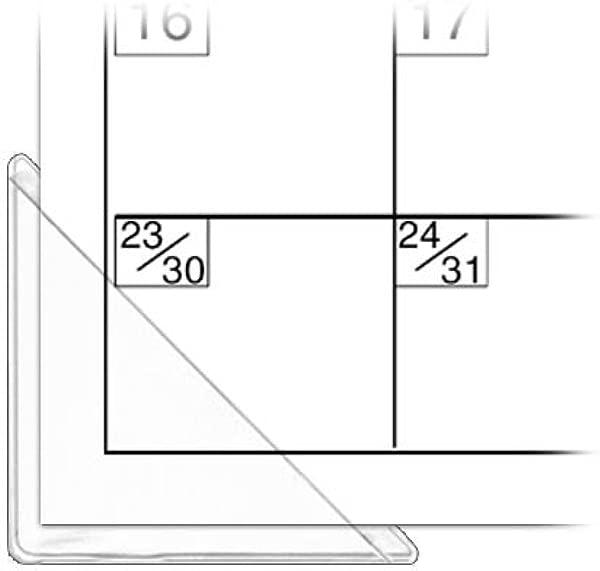 StoreSMART 日历角透明塑料 100 包 PE1336DCL 100