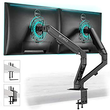 Monitor Mount - Dual Monitor Stand VESA Mount Dual Monitor Mount for 17  -32   Inch or 4.4-15.4 Lbs Each Arm Swivel VESA 75x75mm or 100x100mm Dual Monitor Arms Monitor Stand for Computer Screens