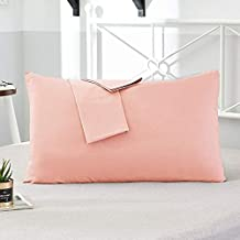 AMZ Exclusive Premium & Soft Quality 2 Piece Cotton Pillow Cover Set (17 x 27 Inches, Pink)