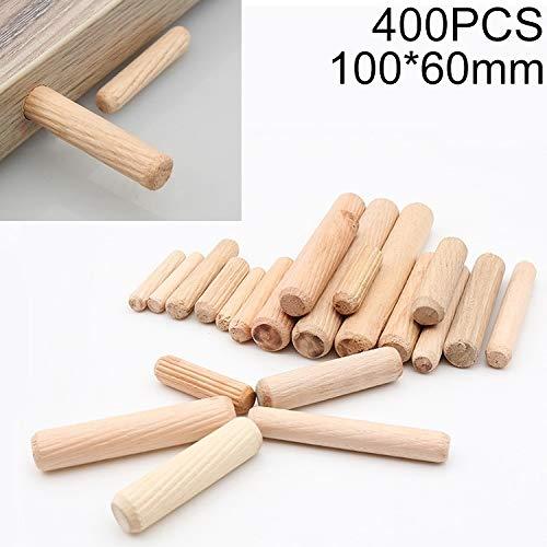 Holzdübe, 400 PCS Eukalyptus Runddübel Tie Anschluss- Stecker, Größe: 100x60mm, holzdübel set