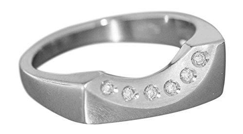 Hobra-Gold Brillantring moderner Weißgoldring 585 mit Brillant Ring Weißgold Damenring Gold