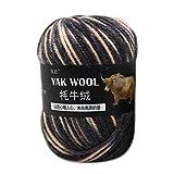 lijun 100g Hilo de Lana de Yak Artificial Tejido a Mano Crochet Medio Grueso estambre Hilado
