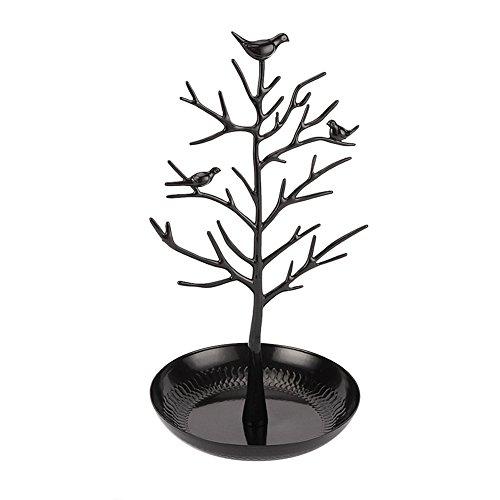 Expositor de pendientes de árbol para joyas, de hierro para guardar collares, pulseras, anillos, pendientes, joyas, regalo para Navidad, etc.