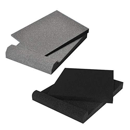 LOVOICE Almohadillas de aislamiento para monitor de estudio para altavoces de 5 pulgadas, espuma acústica de alta densidad para la mayoría de los altavoces.