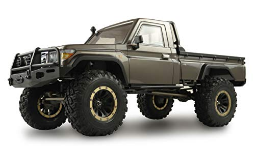 Amewi 22470 AMXRock RCX8P Scale Crawler Pick-Up 1:8, ferngesteuertes Fahrzeug, RTR, grau