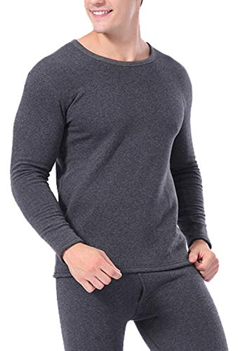 Femaroly Middle-Aged and Elderly Super Thick Thermal Underwear Plus Velvet Men Winter Thermal Set