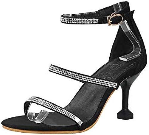HommesGLTX Talon Aiguille Talons Hauts Sandales 2019 Nouvelle Arrivée Femmes Sandales en Cristal Talons Aiguilles Chaussures Boucle Fête D'été De Mariage Chaussures Femme Grande Taille 48