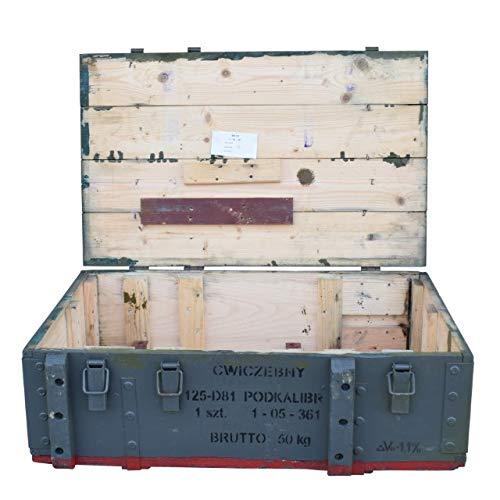Obstkisten-online Großzügige Munitionskiste aus Holz im Military Style, 82x51x29cm - Militär Truhe Offizierskoffer Aufbewahrungskiste Munitionsbox Militaria - 4