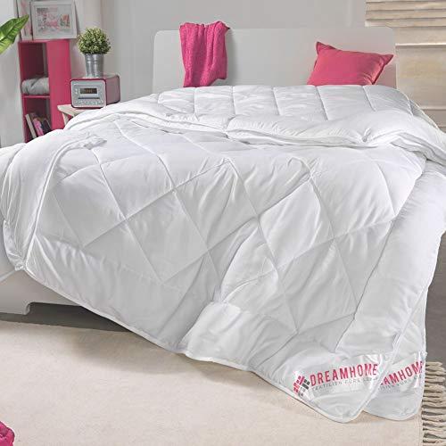 Dreamhome 4-Jahreszeiten Bettdecke 155x220 bestehend aus 2 Steppdecken mit Druckknöpfe Oberbett als Winter und Sommer Decke geeignet