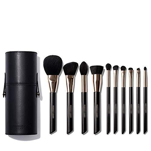 HGYLIOE 10 pinceaux de Maquillage du Visage, poignée Confortable, poigne de Poudre, Peut être utilisé for Fard à Joues, Correcteur, Maquillage des Yeux