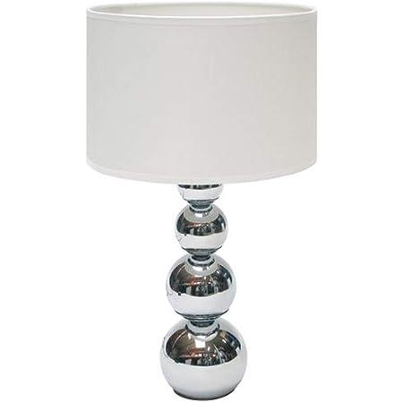 SMARTWARES Lampe de table - abat-jour Blanc, fonction gradation tactile