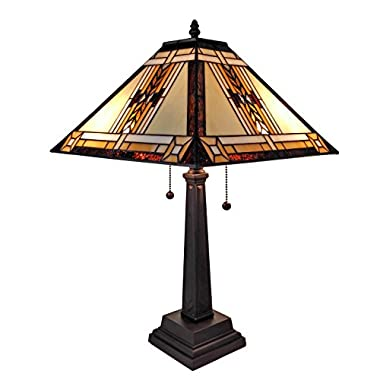 Amora Lighting AM099TL14 Tiffany Style Mission Design Table Lamp, 22
